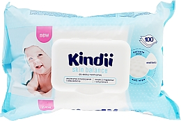 Духи, Парфюмерия, косметика Детские влажные салфетки, 100 шт - Cleanic Kindii Skin Balance