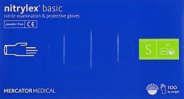 Духи, Парфюмерия, косметика Перчатки нитриловые нестерильные неприпудренные S, голубые - Mercator Medical Nitrylex Basic
