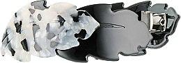 """Духи, Парфюмерия, косметика Заколка-автомат для волос """"Дубовые листочки"""", 1171, черно-белая - Элита"""