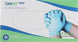 Духи, Парфюмерия, косметика Перчатки нитриловые, неопудренные, голубые, размер S - Avenir Cosmetics