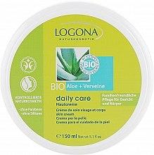 Духи, Парфюмерия, косметика Крем для нормальной и сухой кожи лица и тела с Алоэ и Вербеной - Logona Daily Care Skin Cream Organic Aloe + Verbena