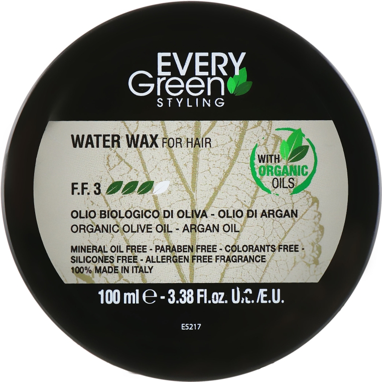 Воск для укладки на водной основе - Dikson Every Green Water Wax