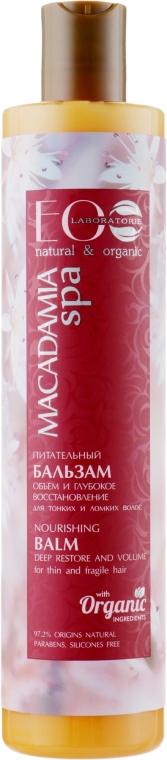 """Бальзам для волос питательный """"Объем и глубокое восстановление"""" - ECO Laboratorie Hair Care Balsam"""