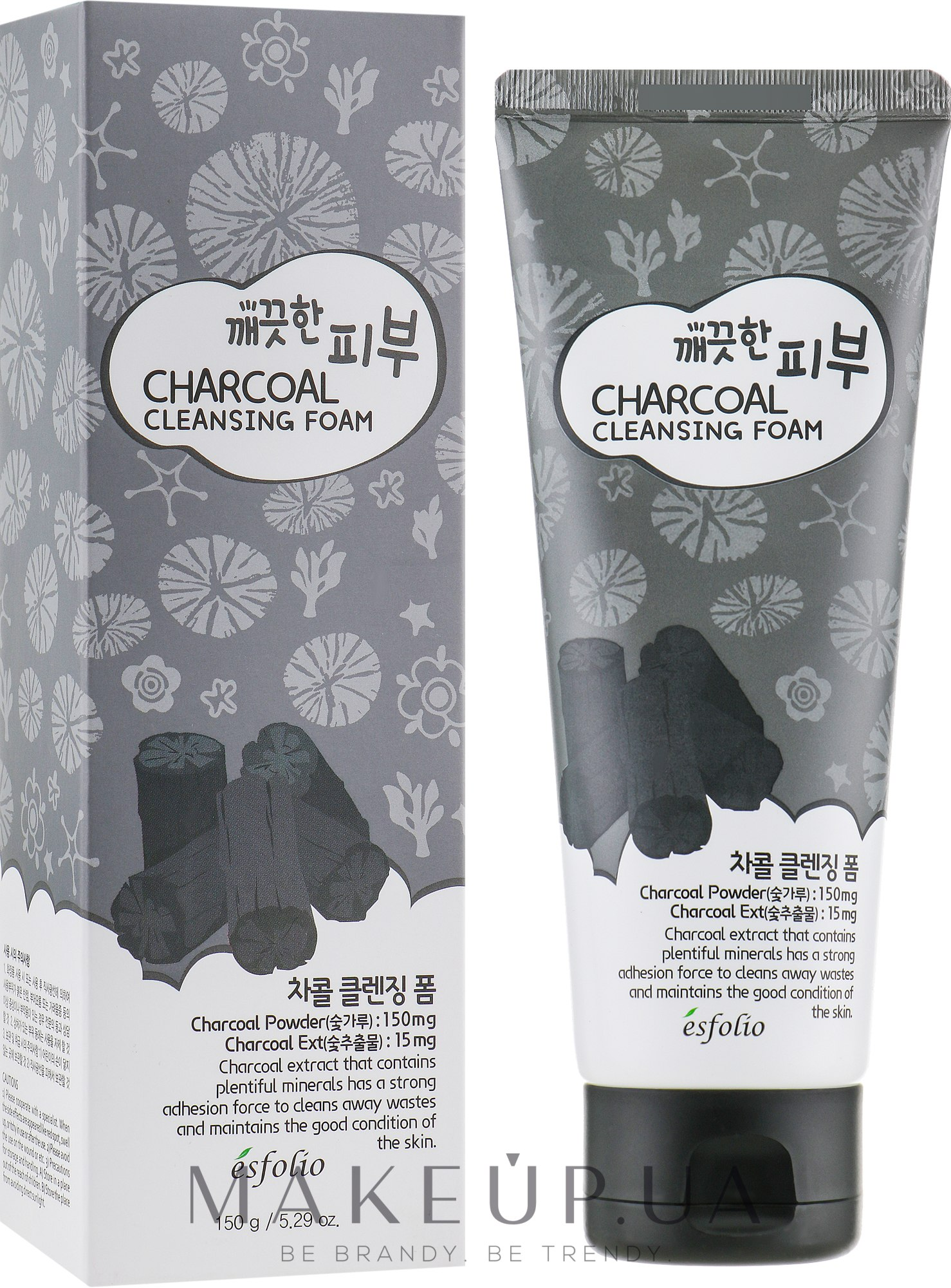 Пенка для умывания - Esfolio Pure Skin Charcoal Cleansing Foam — фото 150g