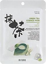Духи, Парфюмерия, косметика Тканевая маска для лица с экстрактом зелёного чая - Mitomo Green Tea Essence Mask