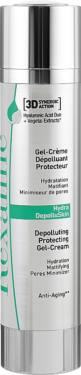 "Защитный гель-крем для лица ""Детокс"" - Rexaline Hydra 3D Hydra-DepolluSkin Gel-Cream"