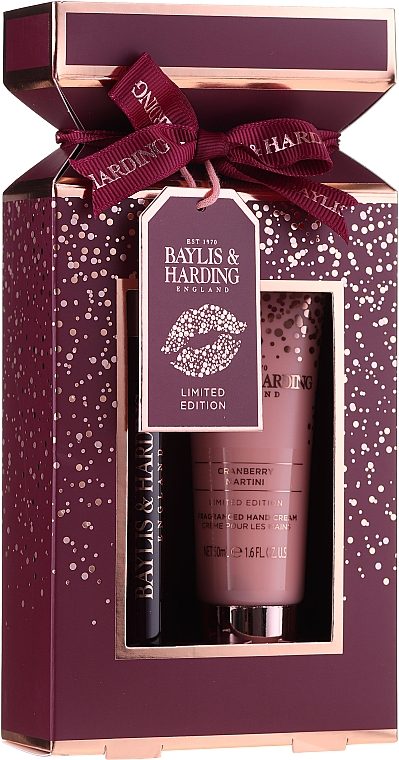 Набор - Baylis & Harding Cranberry Martini (parfum/12ml + h/cr/50ml)