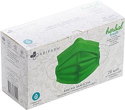 Духи, Парфюмерия, косметика Защитная маска ароматическая, с эфирными маслами, 3-слойная, стерильная, зеленая - Abifarm Herbal Fresh