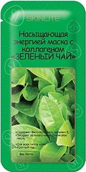 """Насыщающая энергией маска с коллагеном """"Зеленый чай"""" - Skinlite Re-Energizing Green Tea Masque"""