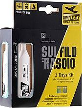 Духи, Парфюмерия, косметика Набор для путешествий - Sul Filo del Rasoio 2 days kit (gel/10ml + cr/10ml + cr/10ml + treat/2x10ml)