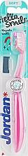 Духи, Парфюмерия, косметика Детская зубная щетка Hello Smile, мягкая, розовая - Jordan Hello Smile Soft