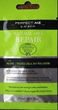 Духи, Парфюмерия, косметика Восстанавливающая маска для волос - Perfect.Me Natural Oils Repair Mask (мини)