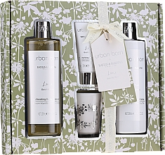 Парфумерія, косметика Набір - Baylis & Harding Urban Barn Lime, Basil & Mint (b/gel/250 ml + h/cr/30 ml + show/cr/250 ml + candle)