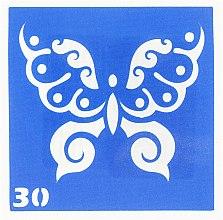 Парфумерія, косметика Трафарет для боді-арту, 6х6 см, 30 - Mayur