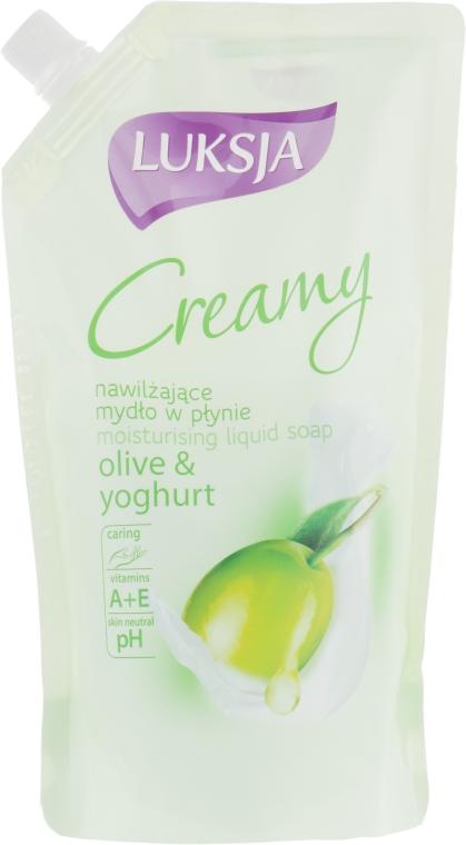 """Жидкое крем-мыло """"Оливковое масло и йогурт"""" - Luksja Creamy Olive&Yogurt Soap (дой-пак)"""