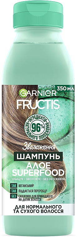 """Шампунь """"Алоэ"""", увлажнение для нормальных и сухих волос - Garnier Fructis Superfood"""