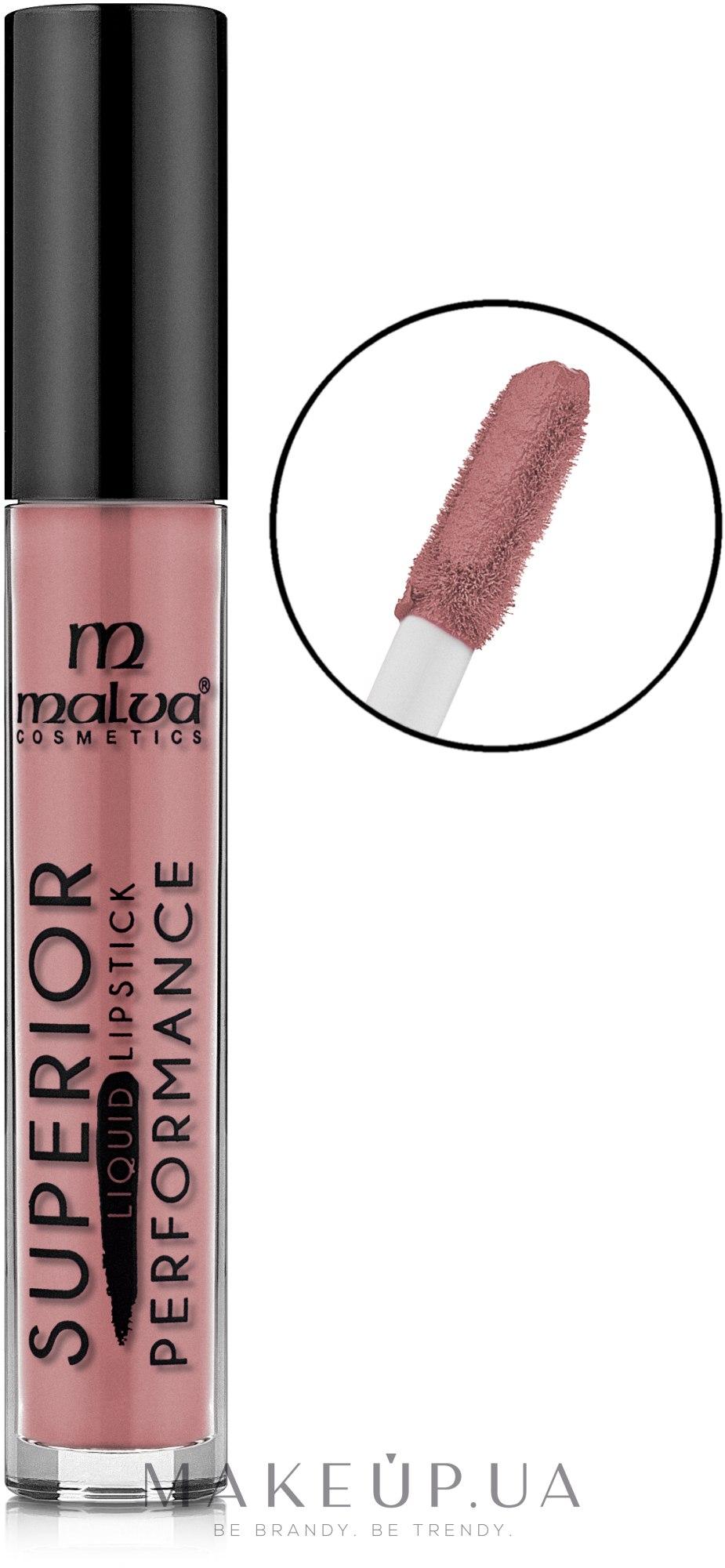 Жидкая помада для губ - Malva Cosmetics Superior Liquid Lip Gloss — фото 02