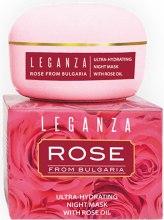 Духи, Парфюмерия, косметика Ультра-увлажняющая ночная маска с розовым маслом - Leganza Rose Ultra-Hydrating Night Mask