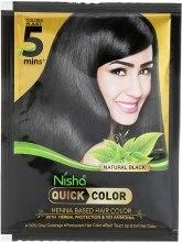 Духи, Парфюмерия, косметика Краска для волос на основе хны с травами без аммиака - Nisha Quick Color Black