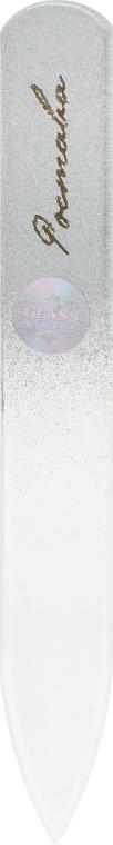 Пилочка для ногтей, хрустальная серебрянная, 90мм - Ростава