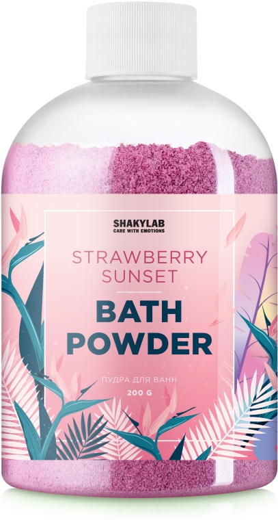 "Пудра для ванны ""Strawberry Sunset"" - SHAKYLAB Magic Bath Powder"