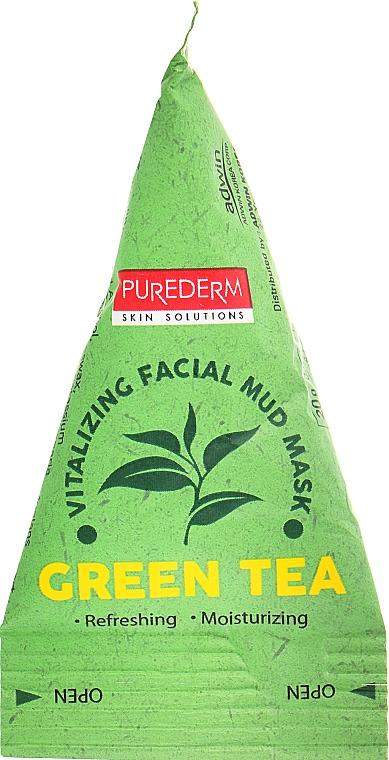 Освежающая грязевая маска с зеленым чаем - Purederm Green Tea Vitalizing Facial Mud Mask
