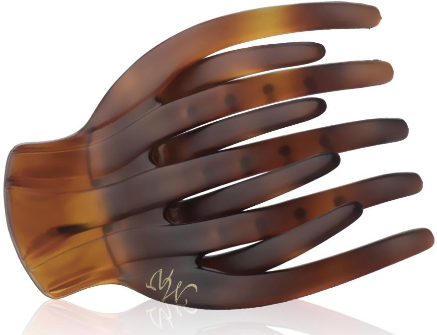 """Заколка """"Краб"""", K2754CH-V6, коричневая матовая - Mari N."""