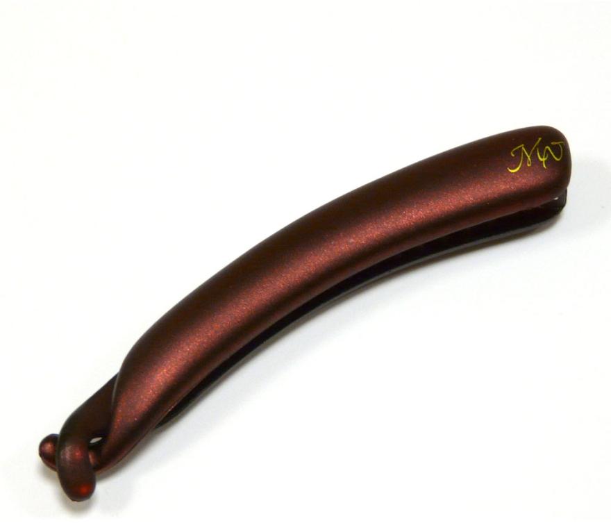 """Заколка """"Банан"""", NK225-658br20m, бордовый глянец - Mari N."""