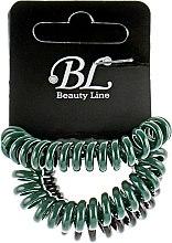 Духи, Парфюмерия, косметика Набор резинок для волос, 405004, зеленая+зеленая+черная - Beauty Line