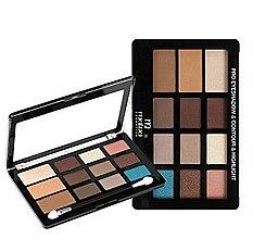 Духи, Парфюмерия, косметика Палитра для макияжа - Malva Cosmetics Pro Eye Shadow Contour Highlight