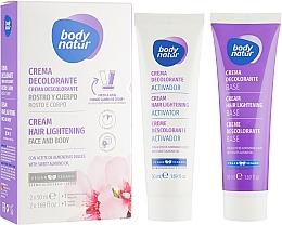 Парфумерія, косметика Крем для освітлення волосся на обличчі й тілі - Body Natur Hair Lightening Cream for Face & Body