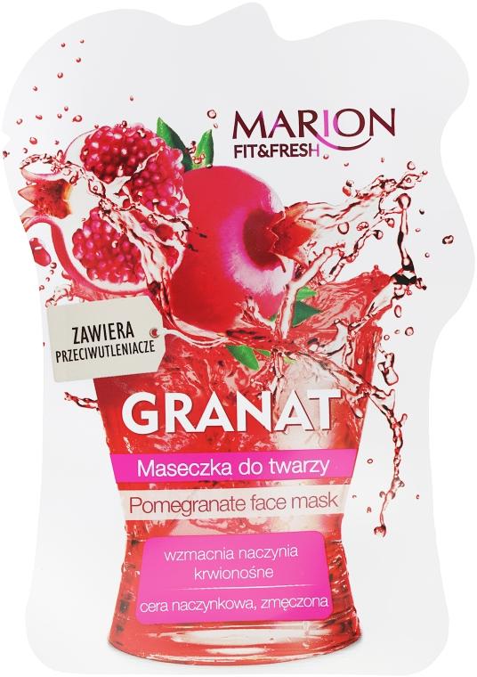 "Маска для лица ""Гранат"" - Marion Fit & Fresh Pomegranate Face Mask"