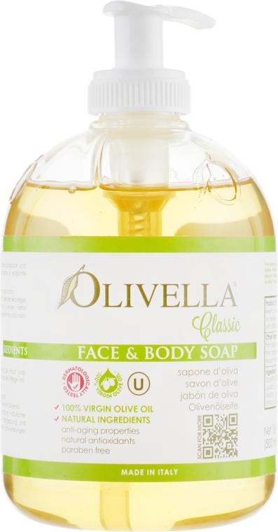 Мыло жидкое для лица и тела на основе оливкового масла - Olivella Face & Body Soap Olive