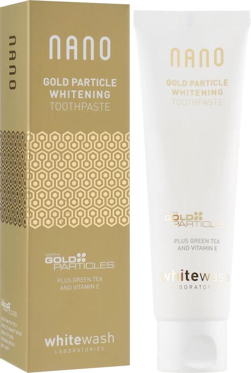 "Зубная паста ""Интенсивное отбеливание с частичками золота"" - WhiteWash Laboratories Nano Gold Particle Whitening Toothpaste"