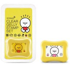 Духи, Парфюмерия, косметика Штамп для стемпинга прозрачный, желтый - Konad Clear Jelly Stamp