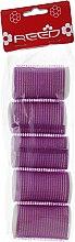 Духи, Парфюмерия, косметика Бигуди-липучки с валиком 32 мм, фиолетовые - Reed Curlers