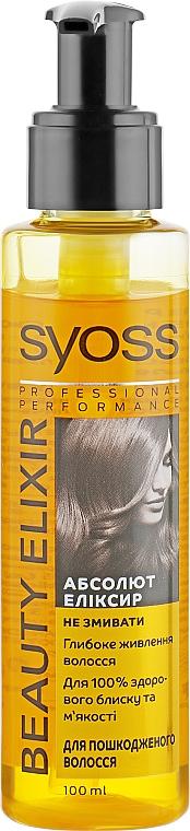Масло для поврежденных волос - Syoss Beauty Elixir
