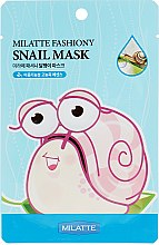 Духи, Парфюмерия, косметика Тканевая маска для лица с экстрактом слизи улитки - Milatte Fashiony Mask Sheet Snail