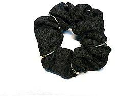 Духи, Парфюмерия, косметика Резинка для волос P27643-2, d-7 см, черная - Akcent