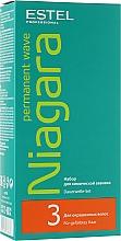 Духи, Парфюмерия, косметика Набор для химической завивки для окрашенных волос - Estel Professional Niagara Permanent Wave (fix/100ml + lot/100ml + gloves)