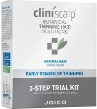 Духи, Парфюмерия, косметика Система для редеющих натуральных волос - Joico Cliniscalp 3-step Trial Kit For Natural Hair Early Stages (shmp/100ml + cond/100ml + treat/50ml)
