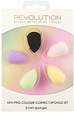 Духи, Парфюмерия, косметика Набор спонжей для макияжа - Makeup Revolution Mini Pro Colour Correct Sponge Set