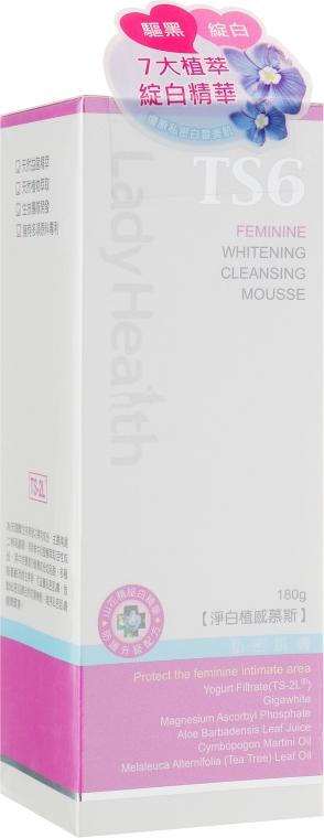 Осветляющий и очищающий мусс для интимной гигиены - TS6 Lady Health Feminine Whitening and Cleansing Mousse