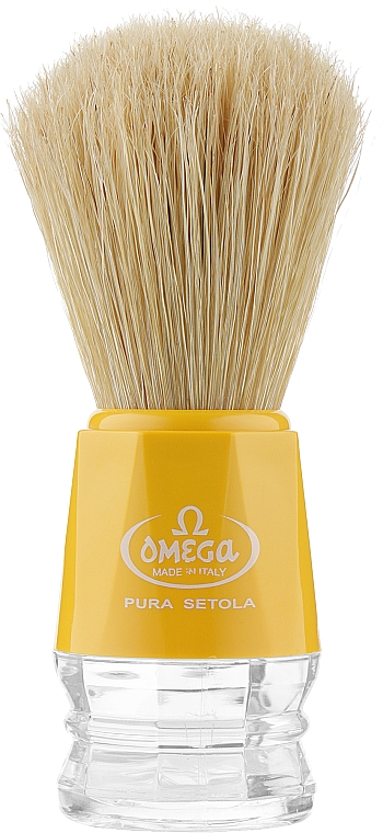 Помазок для бритья, 10018, желтый - Omega