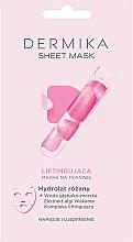 Духи, Парфюмерия, косметика Лифтинговая маска c гидролатом розы - Dermika Sheet Mask