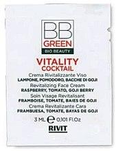 Духи, Парфюмерия, косметика Восстанавливающий крем для лица - BBGreen Vitality Cocktail (пробник)