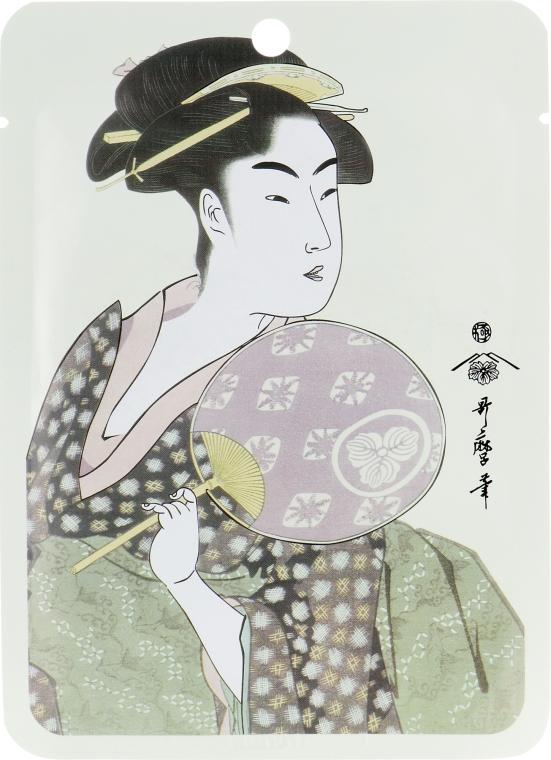"Тканевая маска для лица ""Маточное молочко + Экстракт цветков сакуры"" - Mitomo Royal Jelly Cherry Blossom Facial Essence Mask"