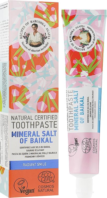 Натуральная зубная паста с минеральной байкальской солью - Рецепты бабушки Агафьи