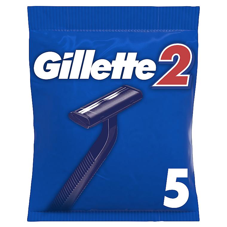 Набор одноразовых станков для бритья, 5шт - Gillette 2 Japan Steel