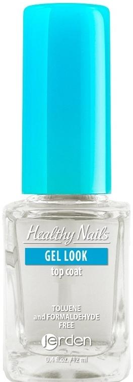 """Закрепитель лака для ногтей """"Гель-эффект"""" № 156 - Jerden Healthy Nails Gel Look"""